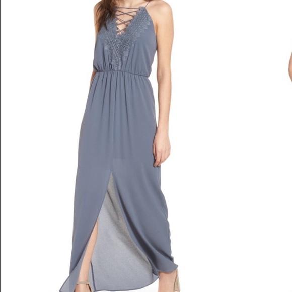 NWT Wayf grey 'Posie' dress